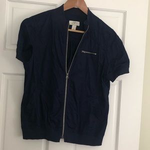 Short Sleeve Zip Up Jacket